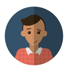 Young man plaid shirt worker occupation shadow vector