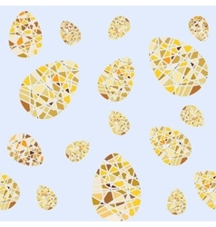 Repeating pattern of mosaic easter eggs seamless vector