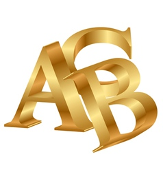 abc gold letters vector image