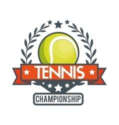 Tennis championship ball star banner vector