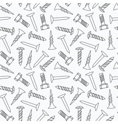 Nails and screws seamless pattern vector
