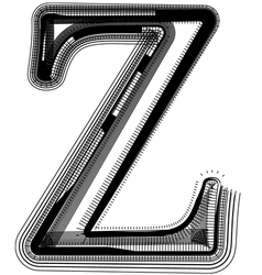abstract font letter Z vector image