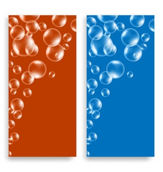 Bright leaflets with bubbles vector