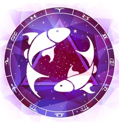 Zodiac sign pisces vector