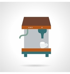 Espresso coffee machine flat icon vector
