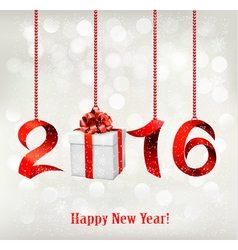 2016 new years background with gift vector