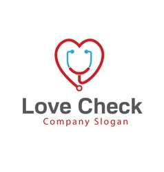 Love check design vector