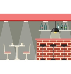Cafe or bar interior design flat vector