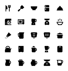 Kitchen utensils icons 1 vector
