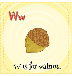 A letter w for walnut vector