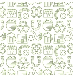 Abstract green seamless line art pattern vector
