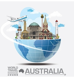 Australia landmark global travel and journey vector