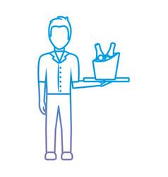avatar bartender icon vector image