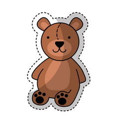 bear teddy toy icon vector image