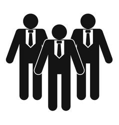 Board directors icon simple style vector