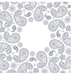 Card with gray paisley vector