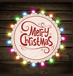 Christmas garland of light vector image