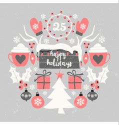Christmas Symbols Composition vector image vector image