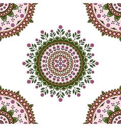 Circle mandala floral pattern vector image