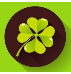 Four-leaf quatrefoil clover icon flat design vector