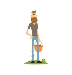 Hipster skinny farmer vector