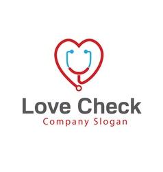 Love check design vector