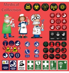 medical collection vector image vector image