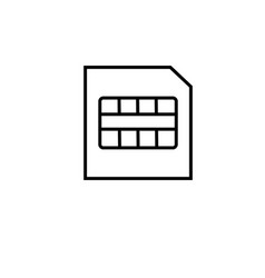 micro sim card icon vector image
