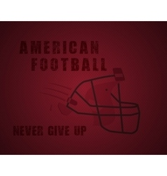 Modern unique american football poster with vector