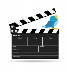 movie clapperboard vector image vector image