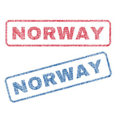 Norway textile stamps vector