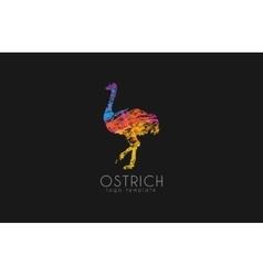 Ostrich logo design Creative logo Bird logo vector image vector image