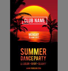 Party flyer design club music flyer vector