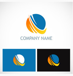 round sphere technology company logo vector image