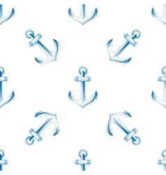 seamless retro pattern anchors vector image
