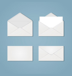 set of envelope forms vector image vector image