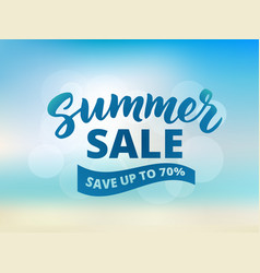 Summer sale banner design template abstract beach vector