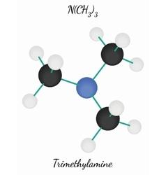 Trimethylamine c3h9n molecule vector