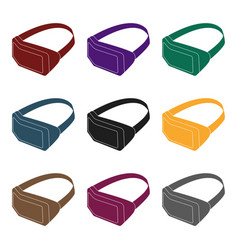 virtual reality headset icon in black style vector image vector image