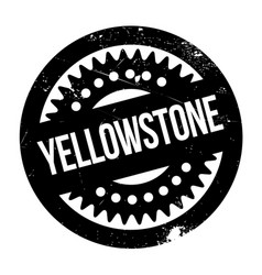 yellowstone rubber stamp vector image