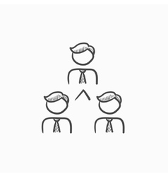 Business team sketch icon vector
