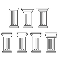 Classic column icon set vector