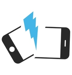 Broken smartphone eps icon vector
