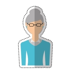 Grandmother character isolated icon vector