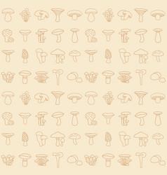 moshroom icons seamless pattern vector image