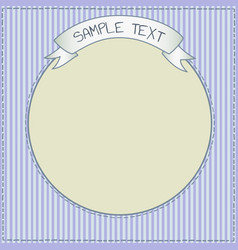 Funny blue card or frame template vector