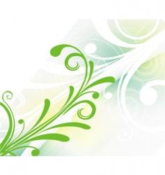 floral retro background vector image