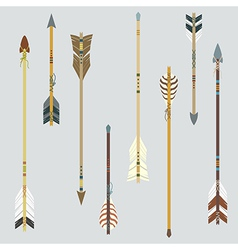 set of colorful ethnic arrows vector image