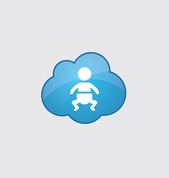 Blue cloud baby icon vector