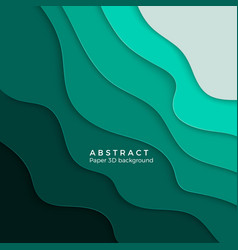 3d abstract background with white paper cut vector image